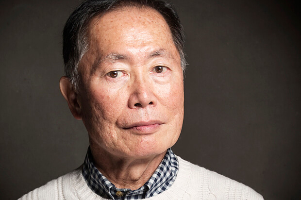 George Takei poses for a portrait at The Collective and Gibson Lounge Powered by CEG, during the Sundance Film Festival, on Saturday, Jan. 18, 2014 in Park City, Utah. (Photo by Victoria Will/Invision/AP)